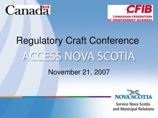 Regulatory Craft Conference