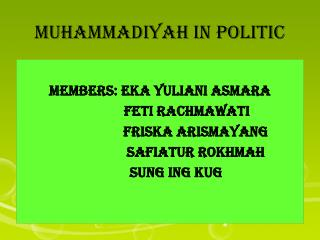 MUHAMMADIYAH IN POLITIC