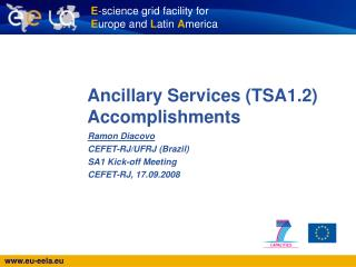 Ancillary Services (TSA1.2) Accomplishments