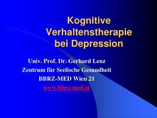 Kognitive Verhaltenstherapie bei Depression