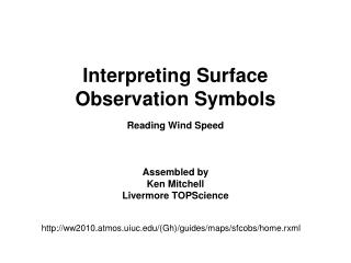 Interpreting Surface Observation Symbols