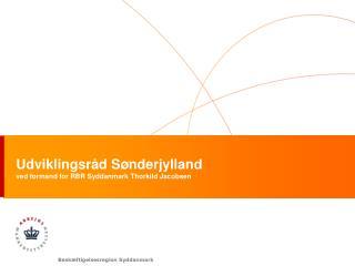Udviklingsråd Sønderjylland ved formand for RBR Syddanmark Thorkild Jacobsen