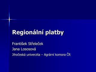 Regionální platby