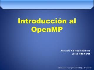 Introducción al OpenMP