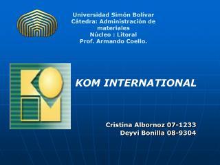 Universidad Simón Bolívar Cátedra: Administración de materiales   Núcleo : Litoral