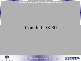 Comdial DX 80