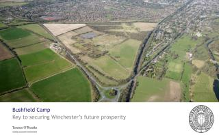 Bushfield Camp  Key to securing Winchester's future prosperity