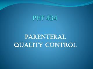 PHT 434