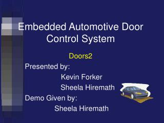 Embedded Automotive Door Control System
