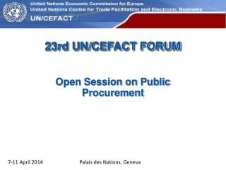 23rd UN / CEFACT FORUM