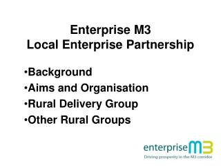 Enterprise M3  Local Enterprise Partnership