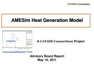 AMESim Heat Generation Model