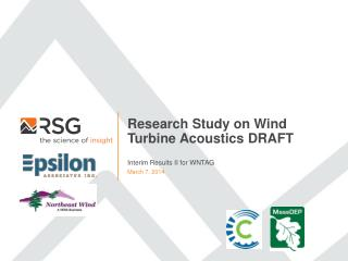 Research Study on Wind Turbine Acoustics DRAFT