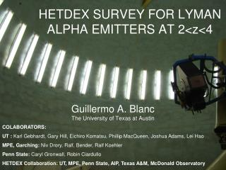 HETDEX SURVEY FOR LYMAN ALPHA EMITTERS AT 2<z<4