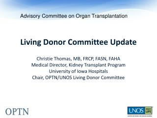 Advisory Committee on Organ Transplantation