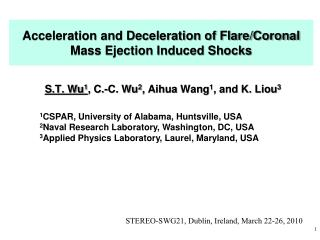 Acceleration and Deceleration of Flare/Coronal Mass Ejection Induced Shocks