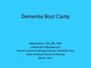 Dementia Boot Camp