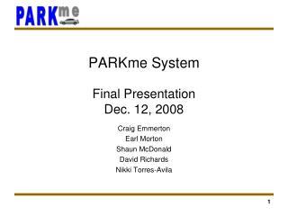 Final Presentation Dec. 12, 2008