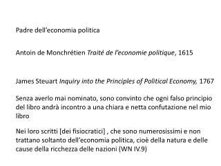 Padre dell ' economia politica