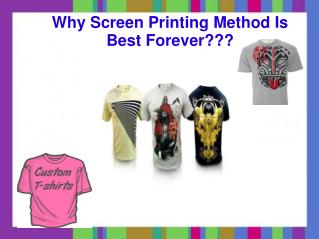 Know About Best T-shirt Printing Methods