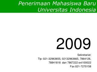 Penerimaan Mahasiswa Baru Universitas Indonesia