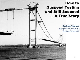 How to Suspend Testing and Still Succeed   A True Story