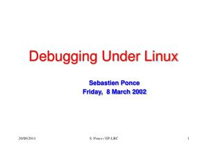 Debugging Under Linux