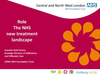 Role The NHS new treatment landscape Annette Dale-Perera