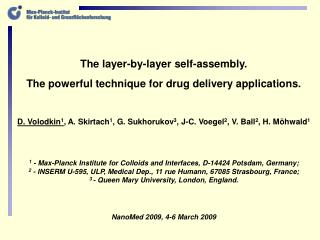 The layer-by-layer self-assembly.  The powerful technique for drug delivery applications.
