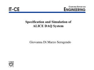 Specification and Simulation of  ALICE DAQ System