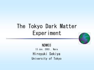 The Tokyo Dark Matter Experiment