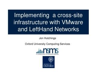 Implementing  a cross-site infrastructure with VMware and LeftHand Networks