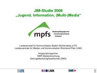 """JIM-Studie 2008 """"Jugend, Information, (Multi-)Media"""""""