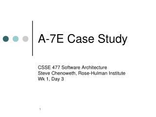 A-7E Case Study