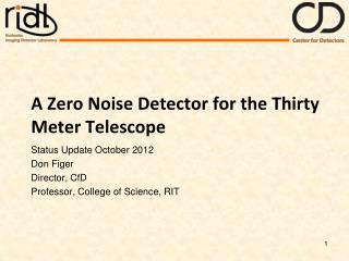 A Zero Noise Detector for the Thirty Meter Telescope