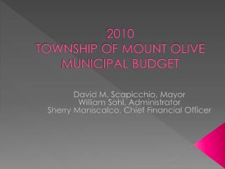 2010 TOWNSHIP  OF MOUNT OLIVE MUNICIPAL BUDGET