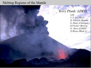 Melting Regions of the Mantle