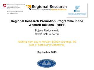 Regional Research Promotion Programme in  the  Western Balkans - RRPP