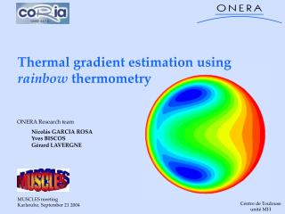 Thermal gradient estimation using  rainbow  thermometry