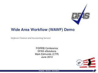 Wide Area Workflow (WAWF) Demo