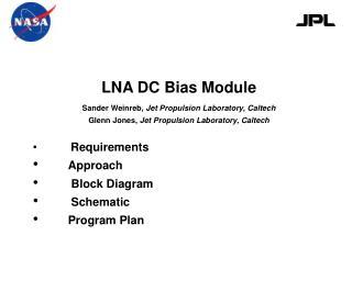 LNA DC Bias Module
