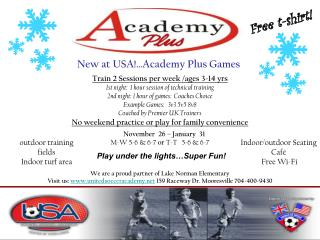 New at USA!…Academy Plus Games