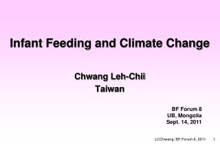 Infant Feeding and Climate Change