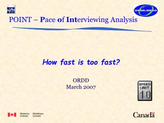 POINT –  P ace  o f  Int erviewing Analysis