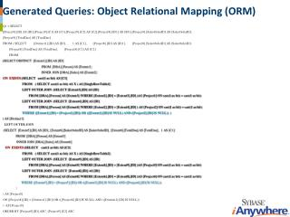 Generated Queries: Object Relational Mapping (ORM)