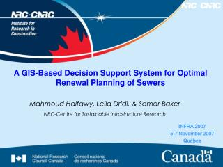 A GIS-Based Decision Support System for Optimal Renewal Planning of Sewers
