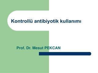 Kontrollü antibiyotik kullanımı