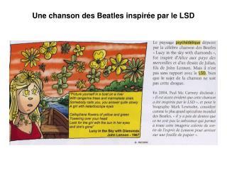 Une chanson des Beatles inspir�e par le LSD