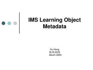 IMS Learning Object Metadata