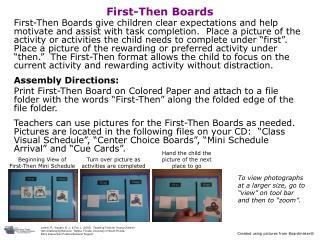 First-Then Boards